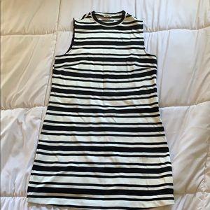 Garage Black and White Striped Bodycon Dress